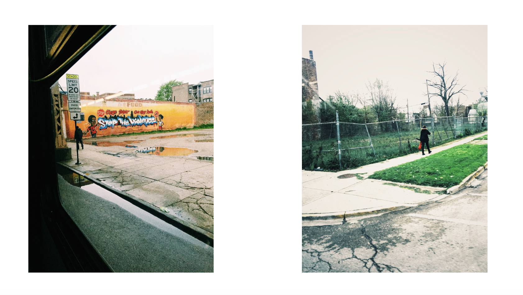 """""""Stop the Violence (diptych)"""" (2015)"""