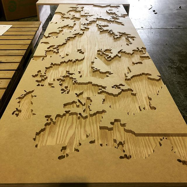 Just finished cutting some artwork out of MDF. These pieces looked to me like continents, any thoughts? ✅ Need a custom project cut? Call or send us an email for more info. ➖ ➖ ➖ #miamicncrouter #interior #art #cnccutting #architecture #interiordesign #engravings #wynwood #prototyping #brickell #interiordecor #instagood #millwork #beautiful #design #commercial #installation #continent #workshop #wood #marketing #decor #wallart #custommade #custom #event #miami #artwork #panels