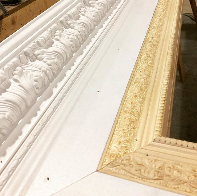Custom made 10' wide and 8' tall events frame with decorative molding and trim! ✅ we made this for our friends @ajoywallace for their 30 year aniversary! What do you all think? Need a custom milwork piece made? Call or send us an email for more info. ➖ ➖ ➖ #miamicncrouter #interior #art #cnccutting #architecture #interiordesign #engravings #wynwood #prototyping #brickell #interiordecor #instagood #millwork #beautiful #design #commercial #installation #walnut #workshop #molding #marketing #decor #art #wood #custom #event #miami #decorative #frame