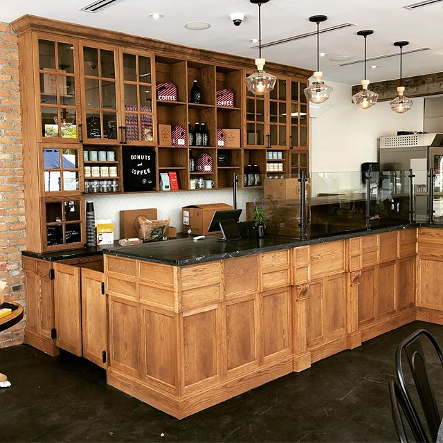 We are very happy to have collaborated on bringing @amanda_doesdonuts and @thesaltydonut cabinetry vision into reality. We created a composition that is simply proportionate yet rich in detail and aesthetics for the community to enjoy ✅ Thank you for trusting us your project and cheers to many more to come! Want general millwork and cabinetry done? Call or send us an email for more info. ➖ ➖ ➖ #miamicncrouter #interior #art #cnccutting #architecture #interiordesign #engravings #southmiami #prototyping #donuts #interiordecor #instagood #millwork #beautiful #design #commercial #installation #business #workshop #oak #marketing #decor #art #thesaltydonut #custom #event #miami #decorative #cabinetry
