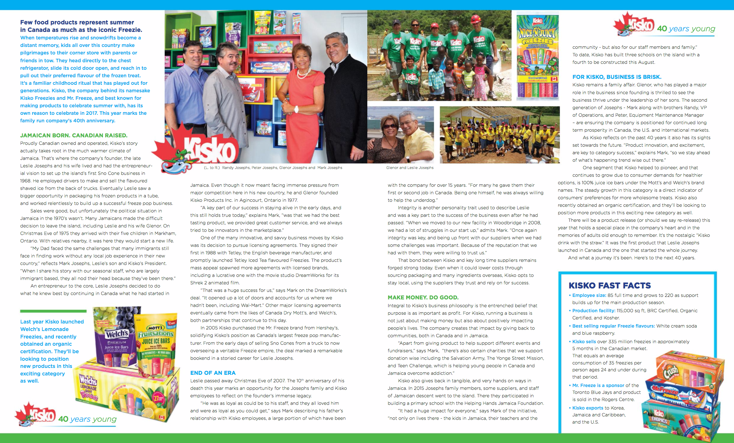 Article in Grocery Magazine - click on READ MORE button to read full article