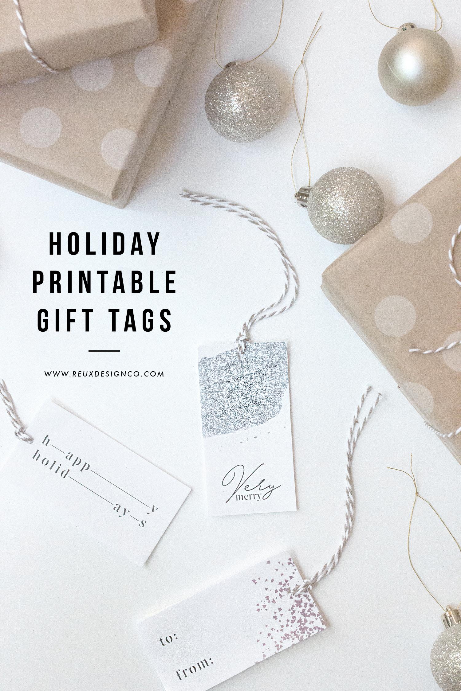 holiday gift tags   download and print diy tags