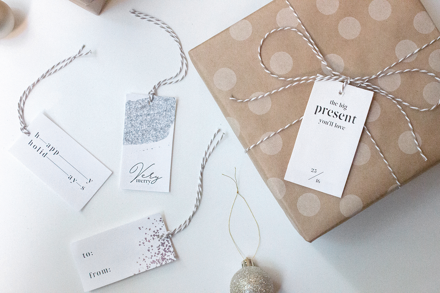 holiday stationery + holiday gift tags   reux design co.
