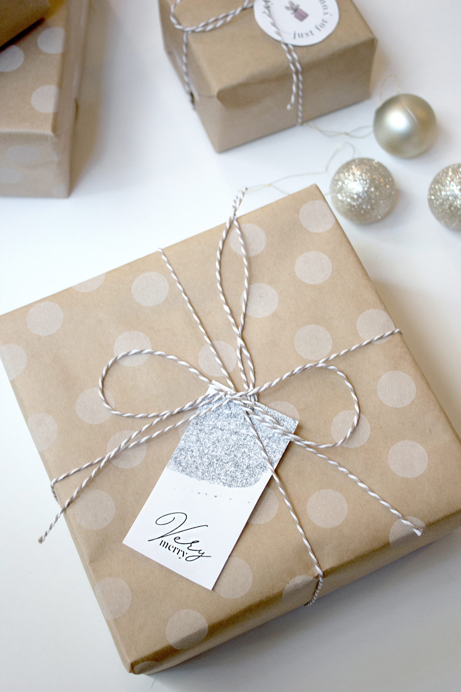 glitter sparkly gift tags for christmas presents   reux design co.