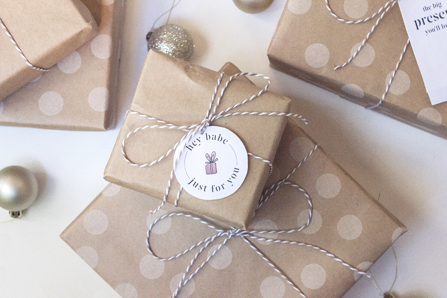 graphic design holiday tags, rustic holiday wrapping   reux design co.