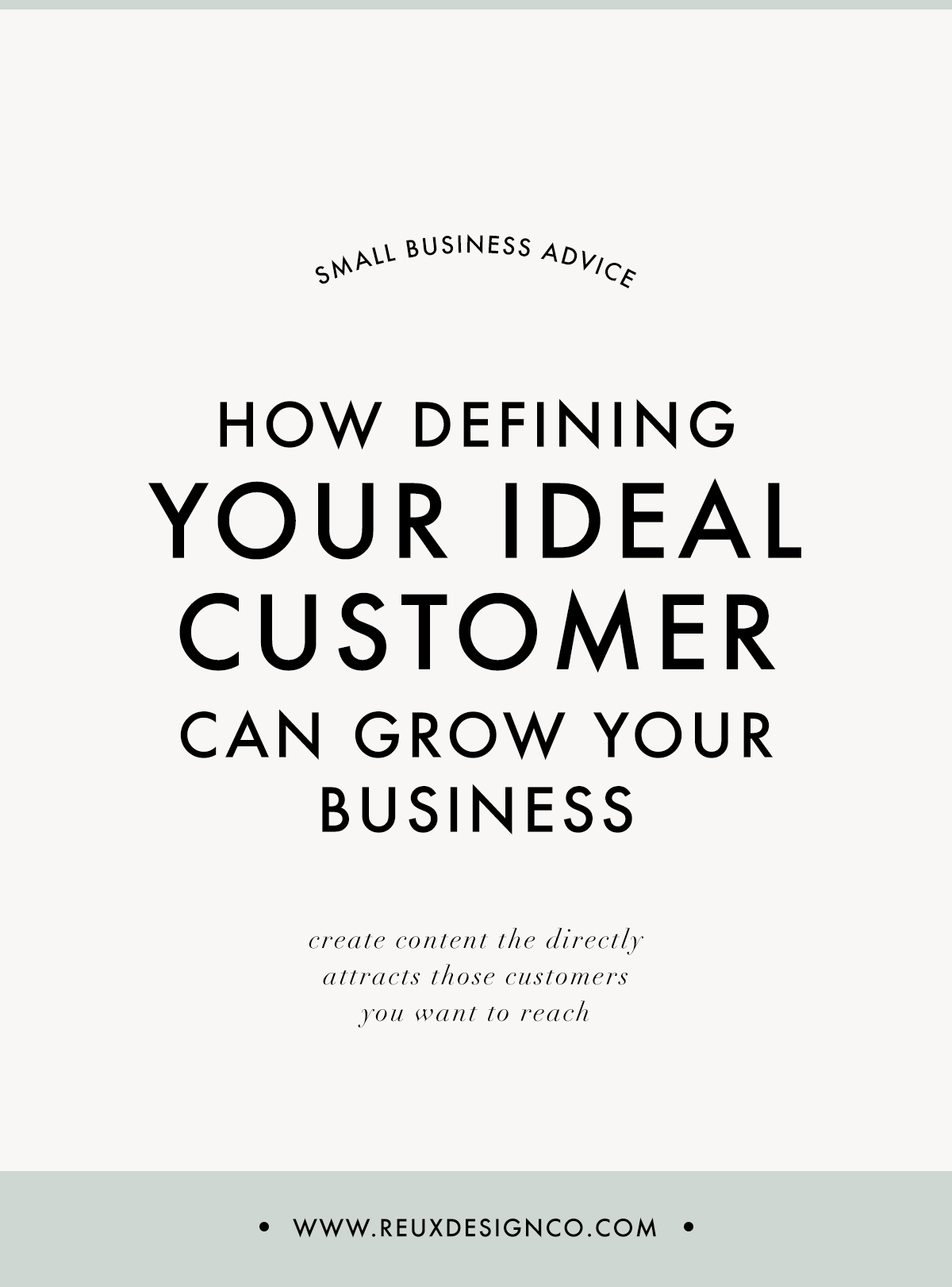 How Defining Your Ideal Client can Grow your Business   reux design  co.