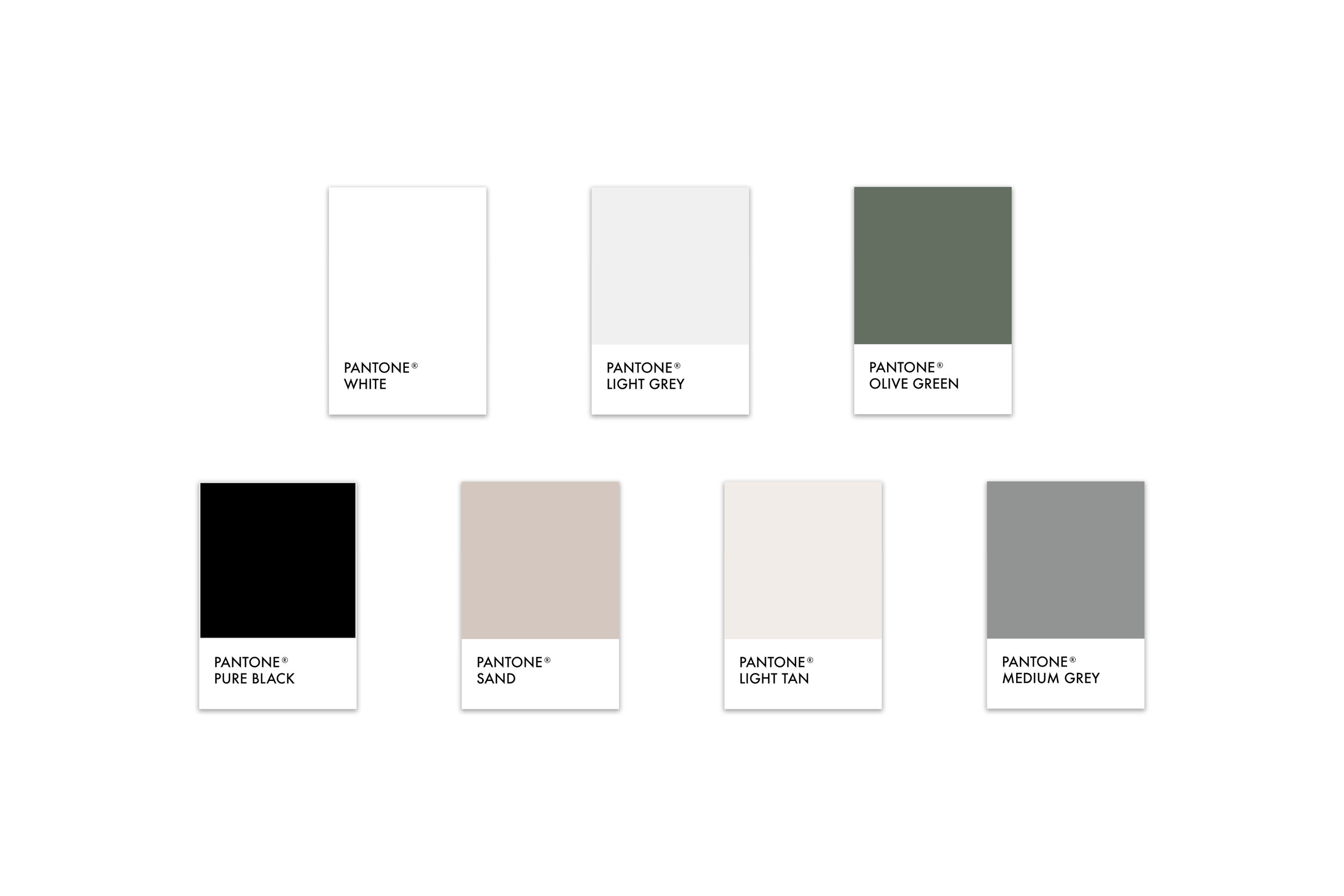 RATE Hotel Group Brand Design: Color palette with masculine neutrals and green   Reux Design Co.   Boutique Branding Studio for Holistic and Conscious Small Businesses