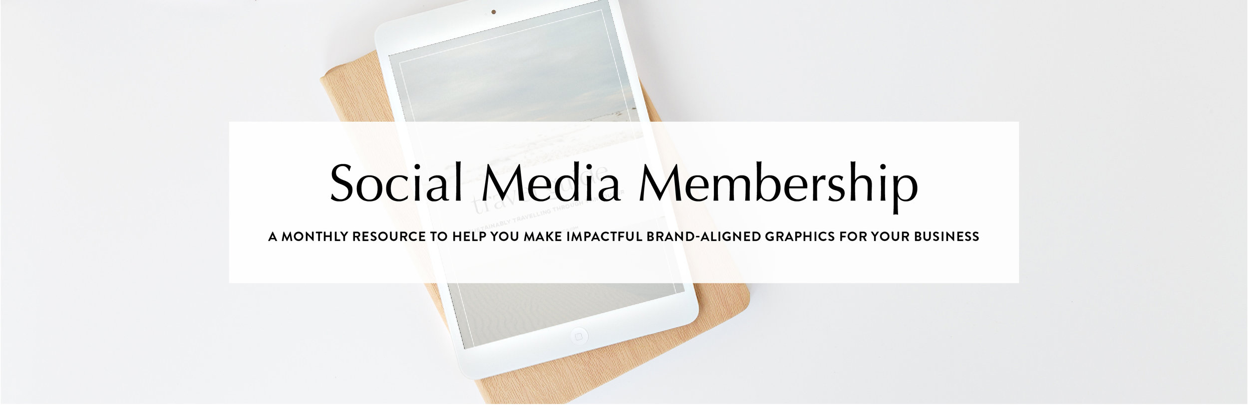 Social Media Membership | a monthly collection of customizable templates for your creative business | Reux Design Co.