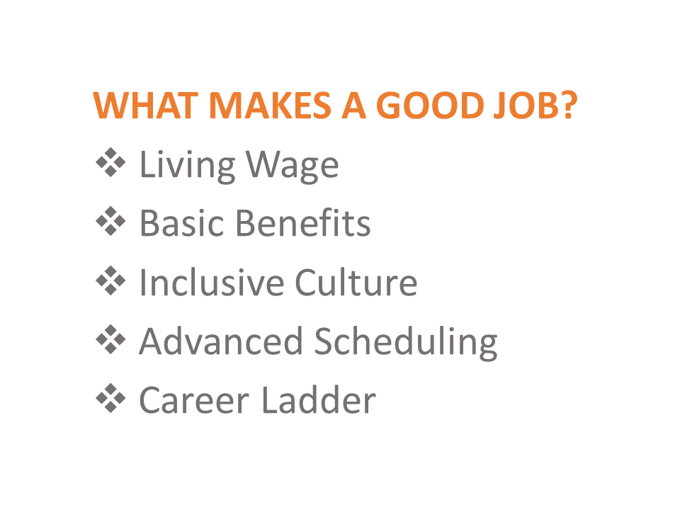 Adapted from ICA Fund Good Jobs' Good Employee Matrix. Source:  ICA Fund Good Jobs