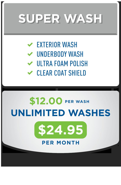 Unlimited Super Wash