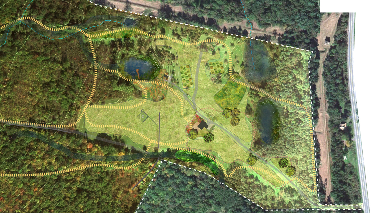 Orchard Farm Master Plan  Ulster County NY   cultivate/restore/maintain This master plan charts a course for the restoration and development of a 118-acre former apple orchard in the lower Hudson Valley with majestic vistas to the Shawangunk Mountains.