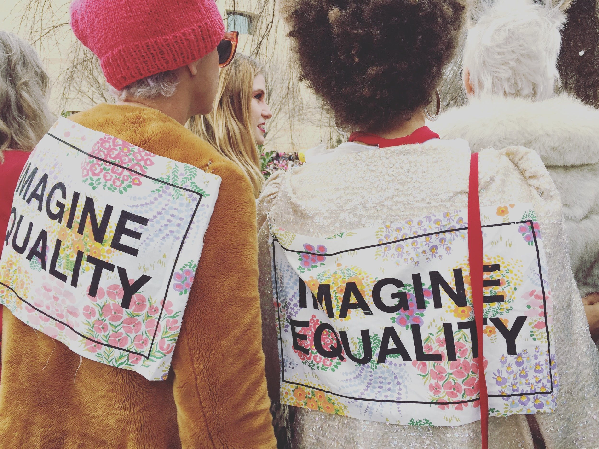 Imagine equality.(Photo by author, Women's March on Washington, 2017)