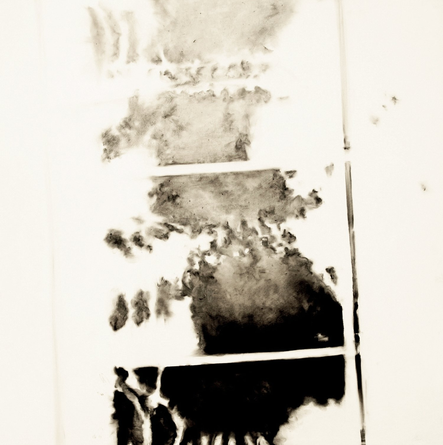 Spinal Intercourse, 36 in. x 36 in., handmade charcoal on canvas 2011