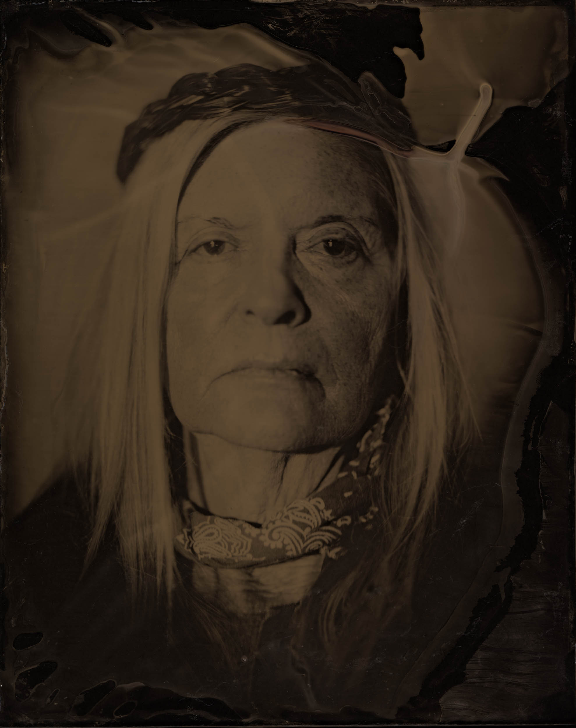 Her Strength, ambrotype original, archival pigment print, 40 in. x 50 in., 2018