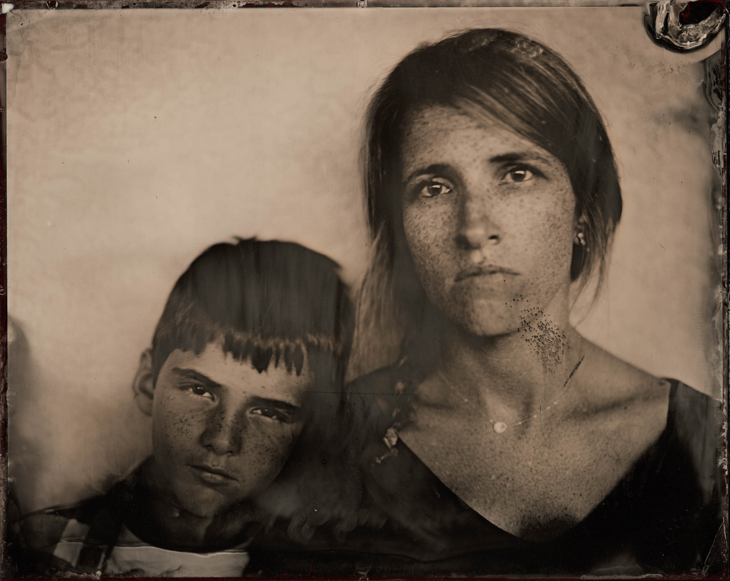 Mother and Son, ambrotype original, archival pigment print, 50 in. x 40 in., 2019
