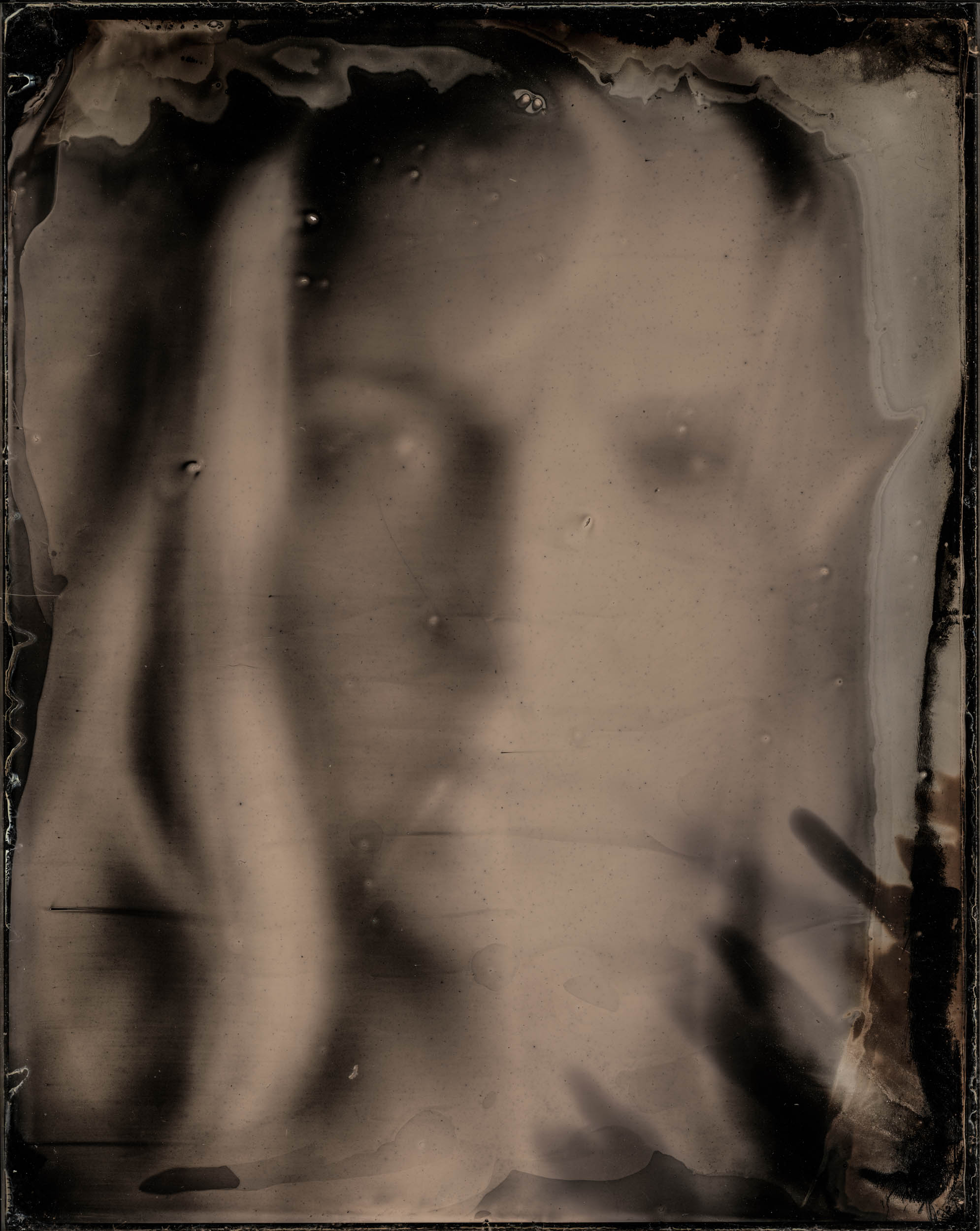 Parting The Veil, ambrotype original, archival pigment print, 40 in. x 50 in., 2019