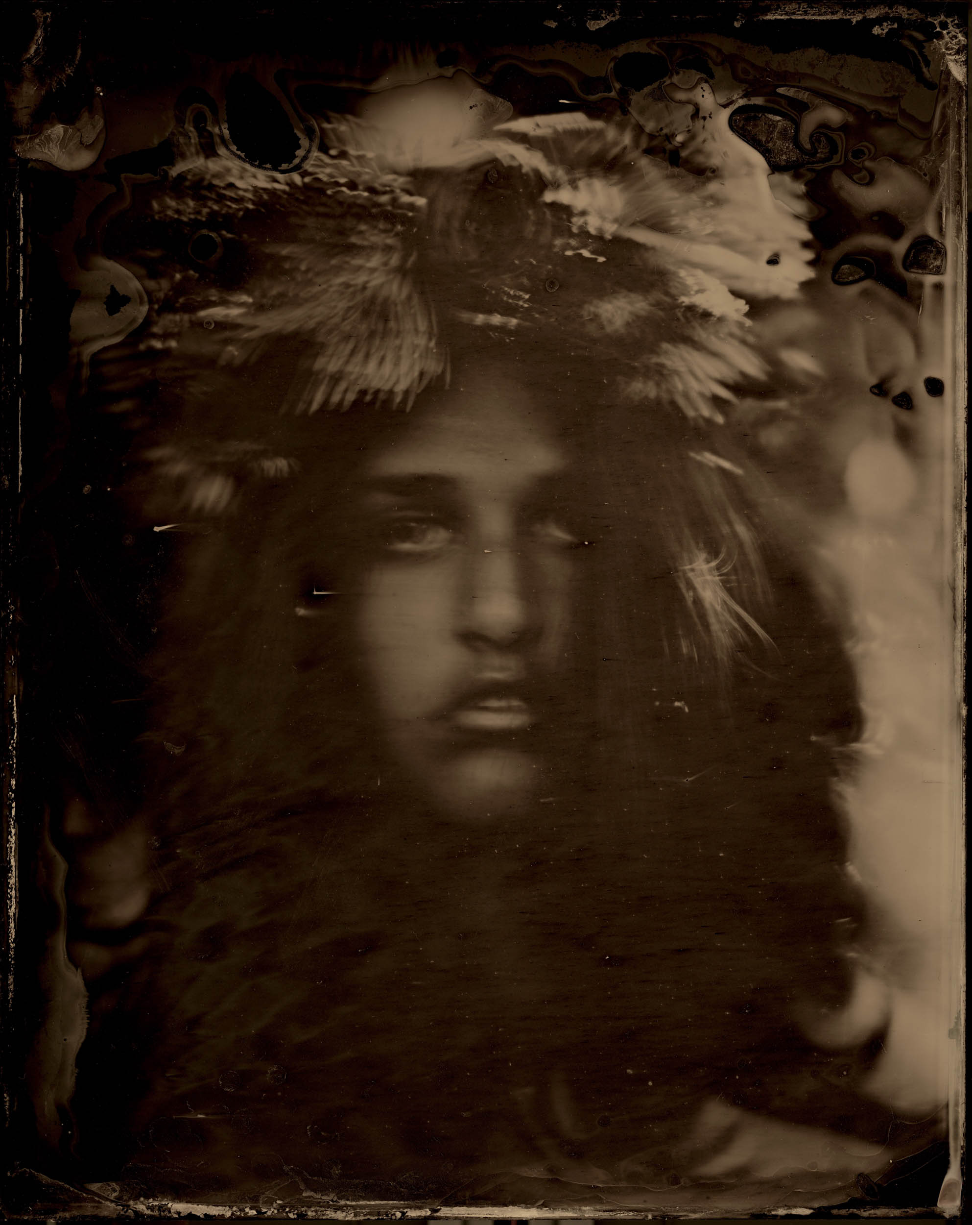 Stubborn Virtue, ambrotype original, archival pigment print, 40 in. x 50 in., 2018