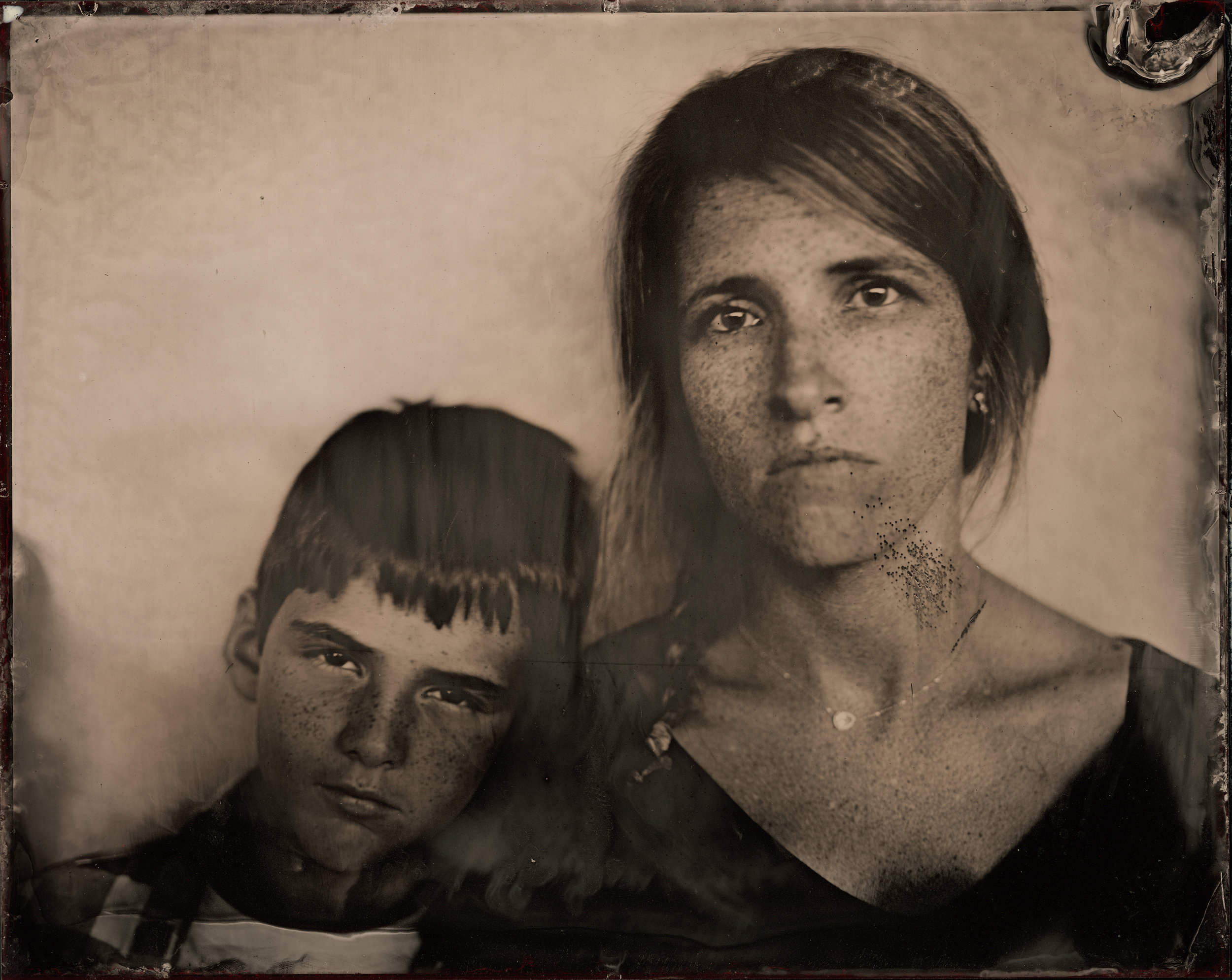 Mother and Son, ambrotype original, archival pigment print, 50 in. x 40 in., 2018 .jpg