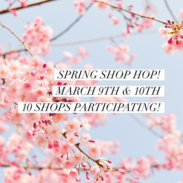 Who's joining us this weekend for the Spring Shop Hop?! 🌷💕 . March 9th & 10th! 10 Consignment and Resale Shops Participating Discounts, Treats, and Goodies Galore! Bring a friend and stop on by! #dwellandgrace #consignmentshop #shophop #depereboutique #shopsmallbusiness