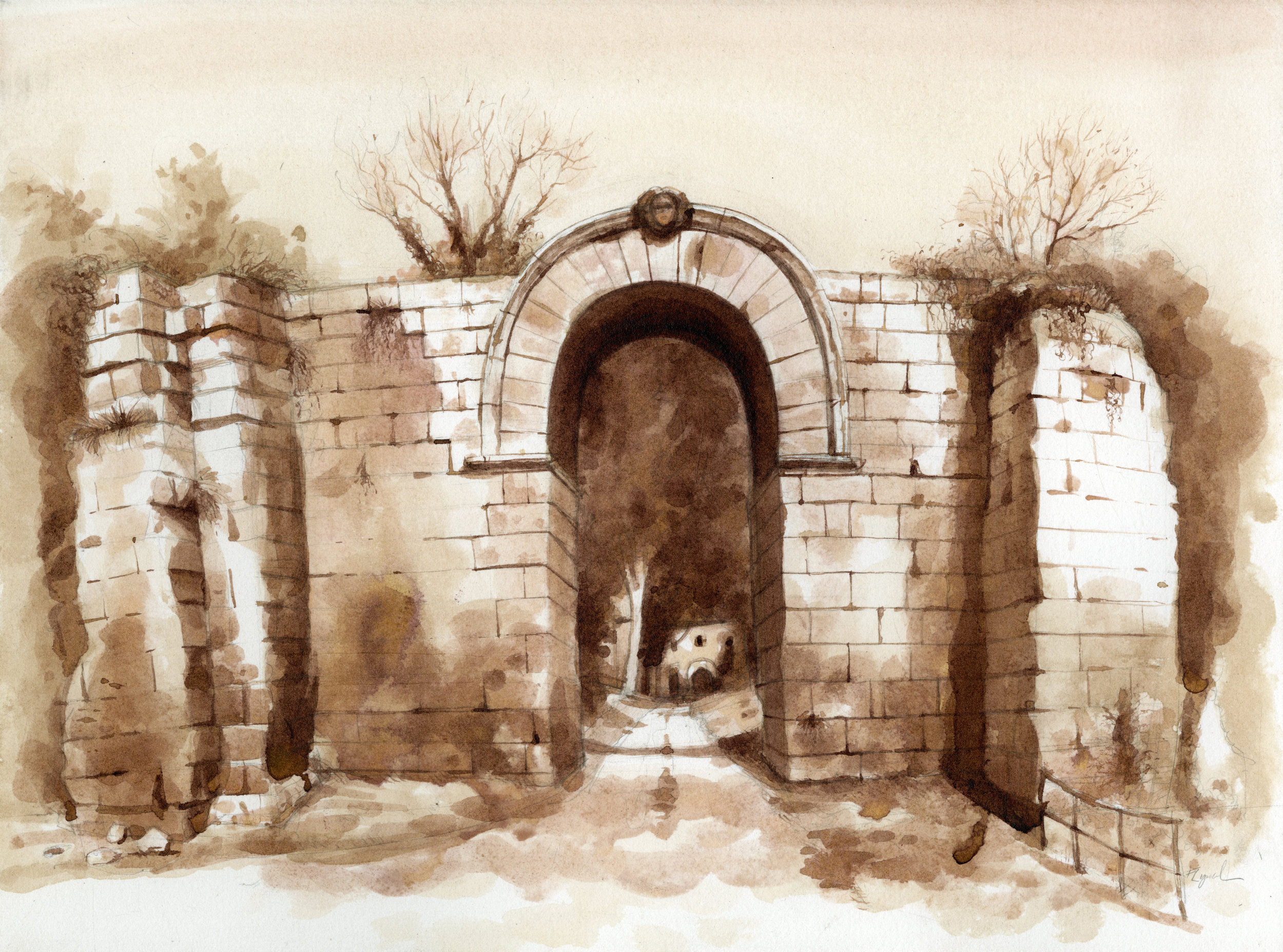 The Gate of Giove, Falerii Novi
