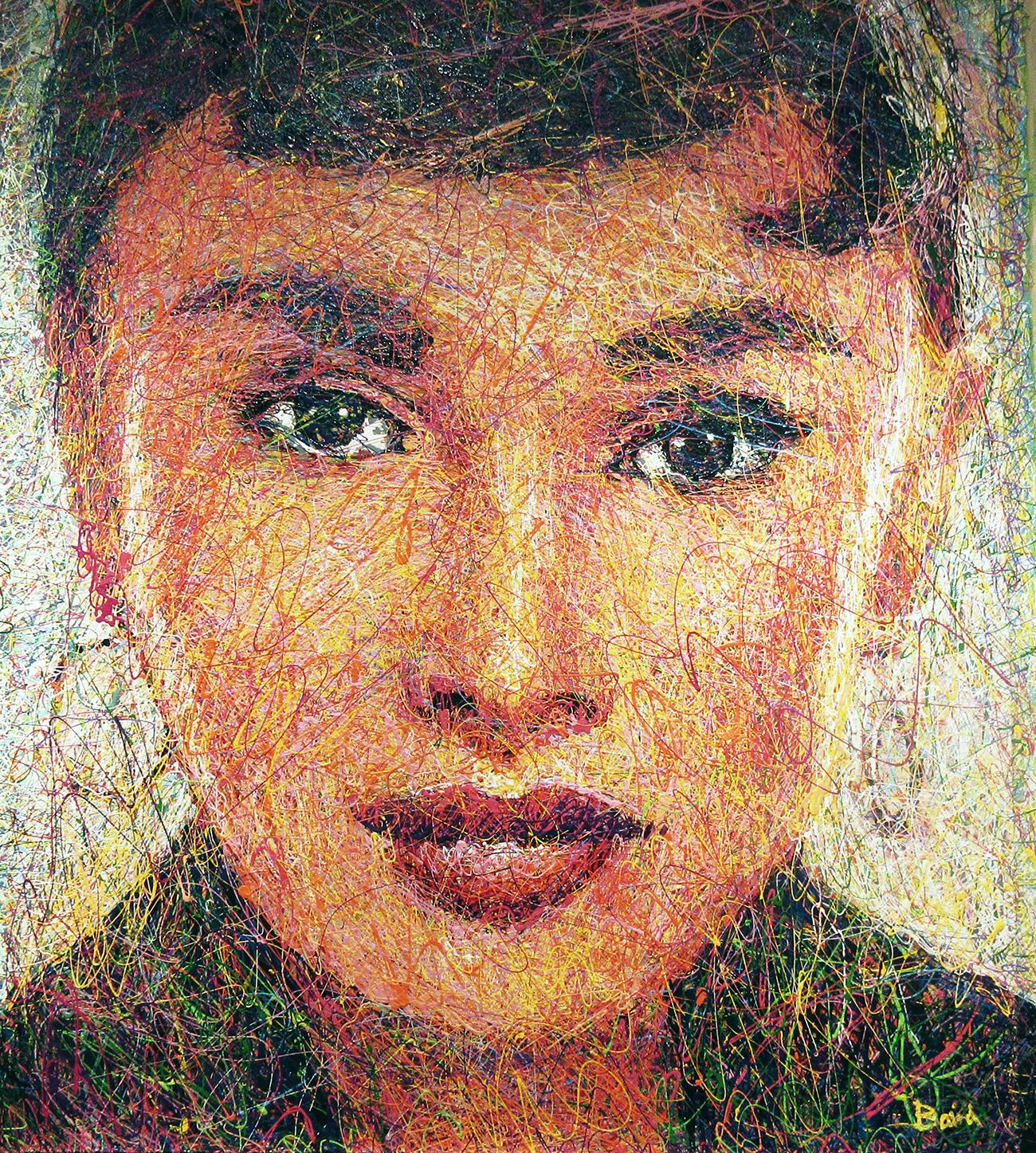 "Audrey 1/15/18 52"" x 45"" Acrylic on canvas"
