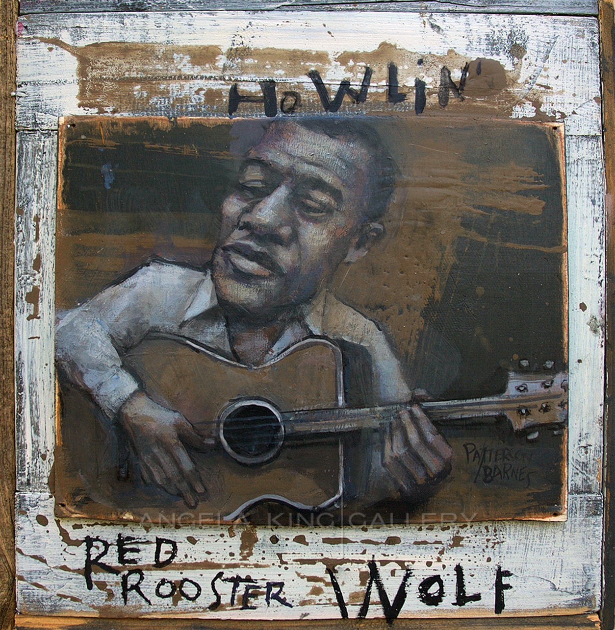 Howling Red Rooster Wolf