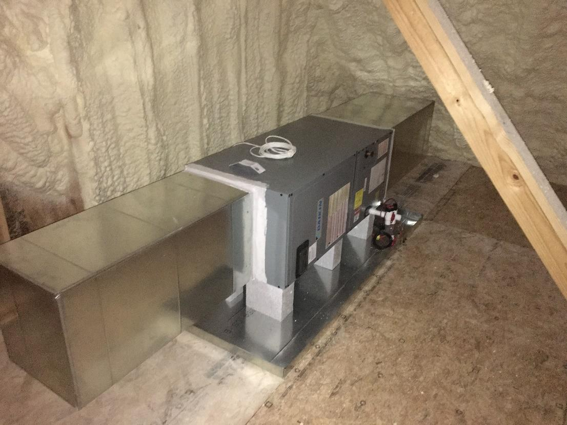 Air Handlers Set in Attic