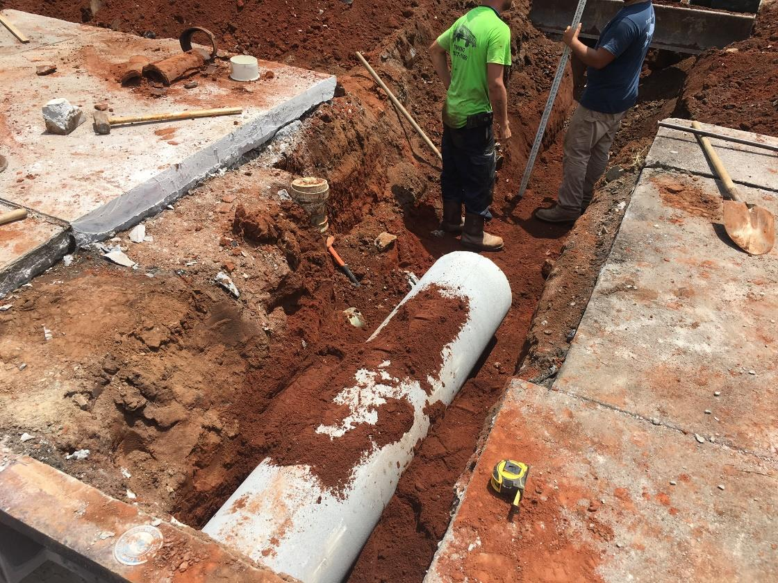 Installing Storm Water Piping
