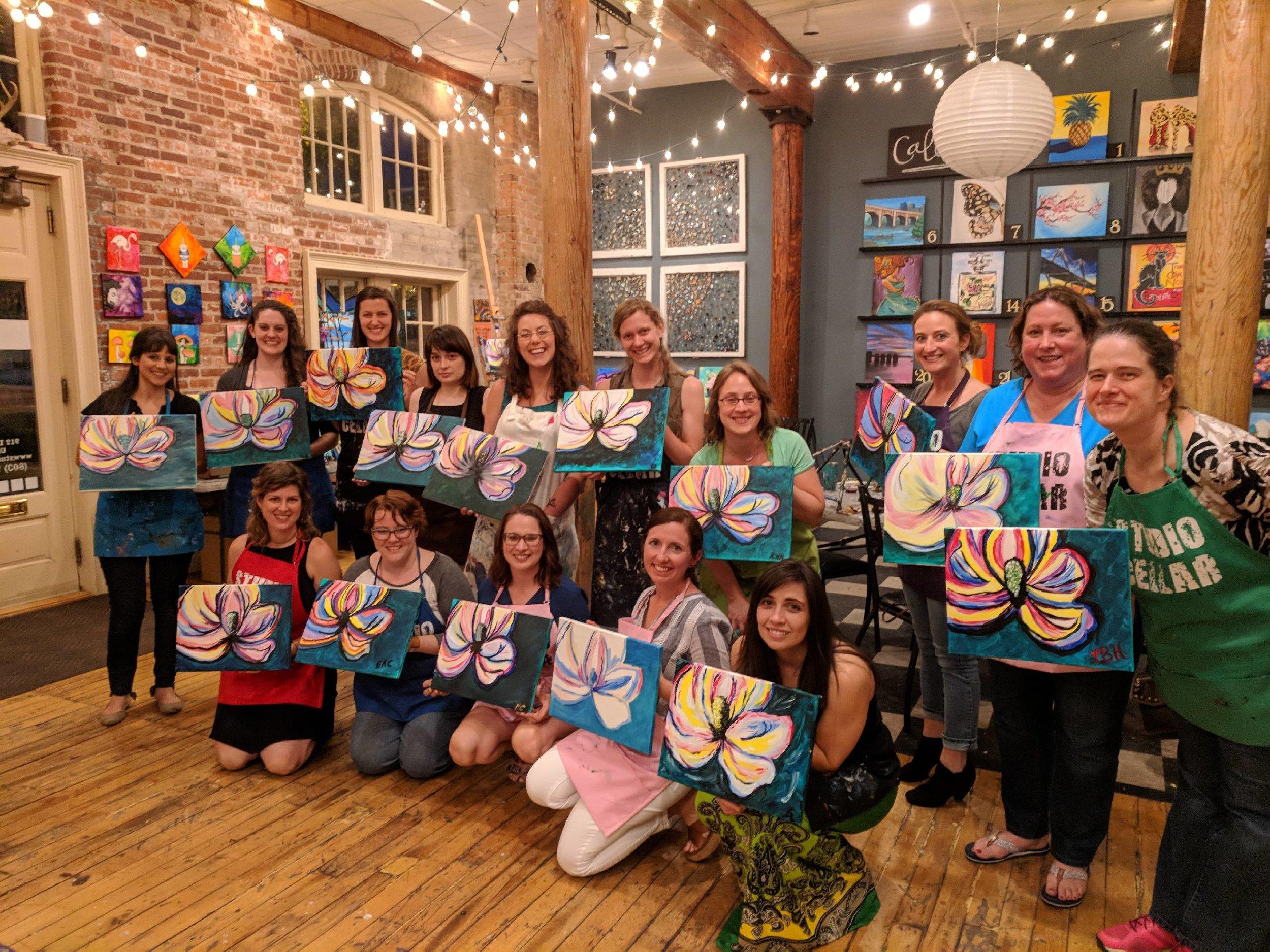 Women's Paint Night at Studio Cellar