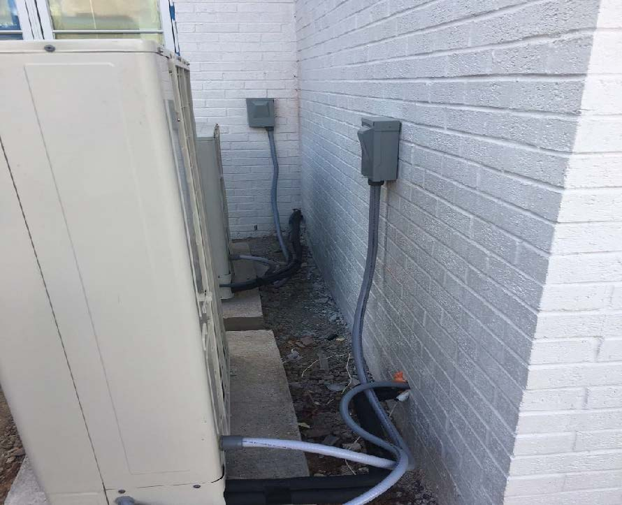 Wiring for first floor HVAC Units