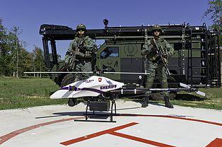 Police Shadowhawk drone.  Vanguard Defense Industries