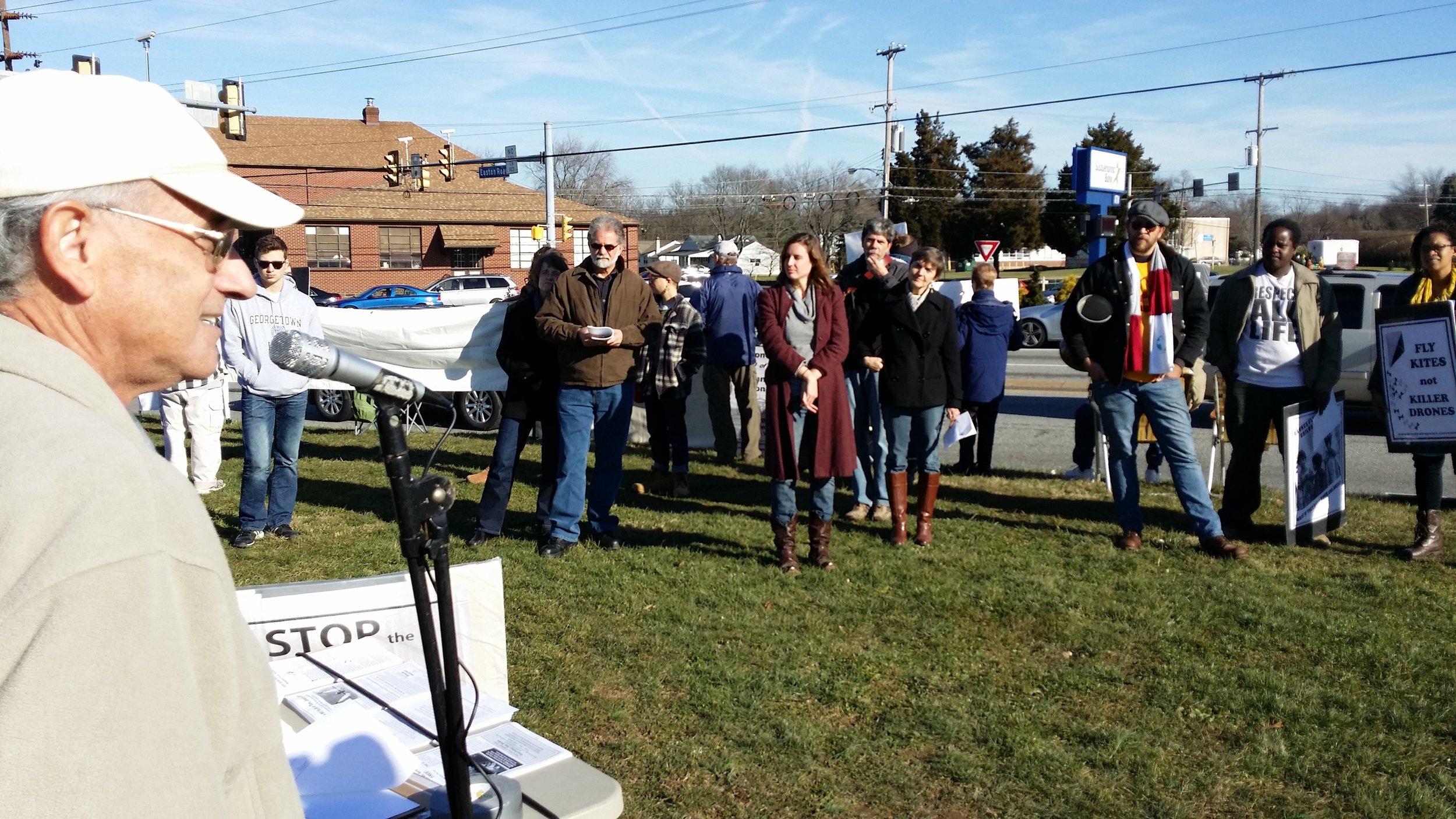 In Dec of 2014, 21 Pilgrims attended the vigil at Horsham. Additonal photos below.
