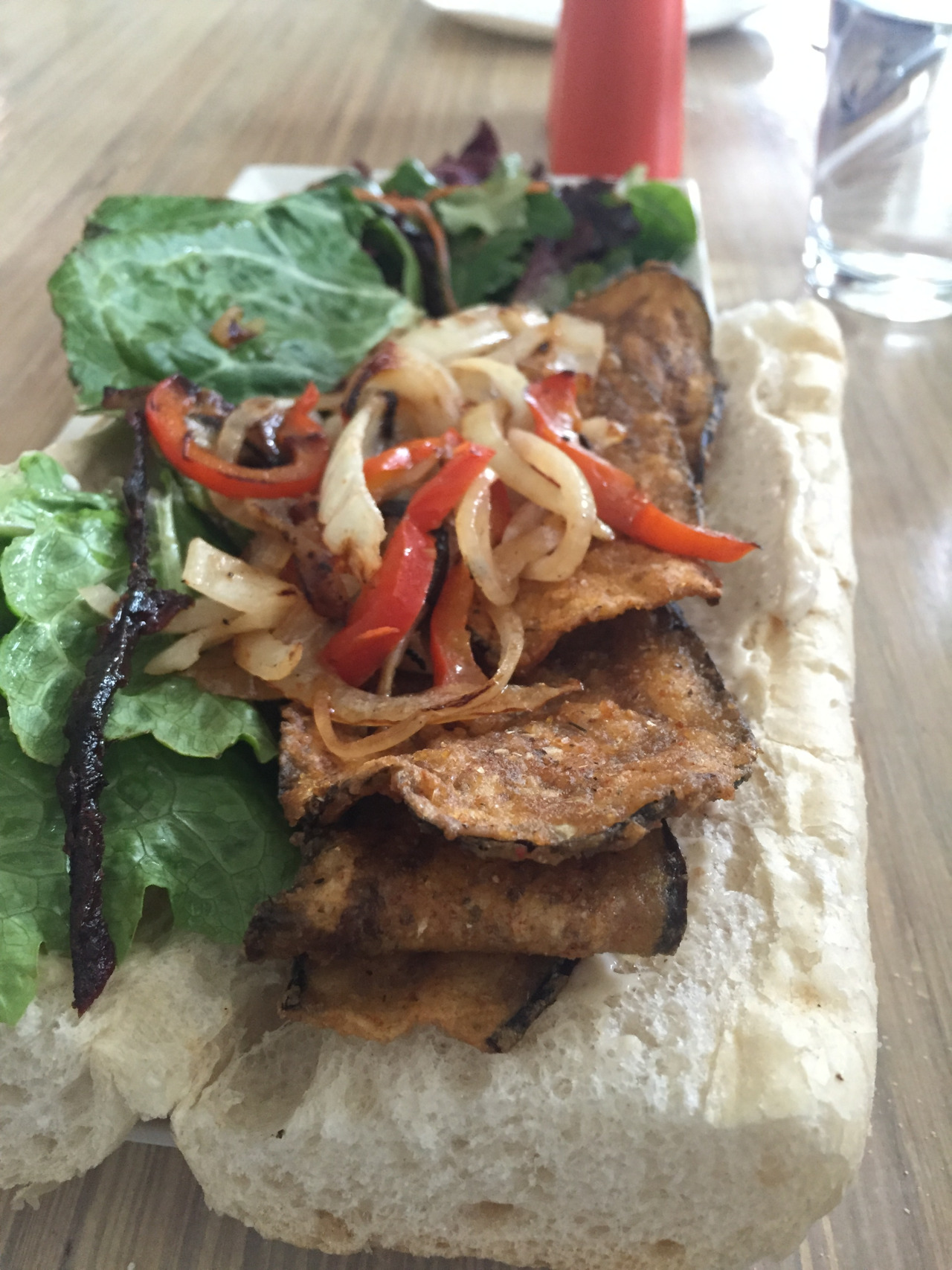 Eggplant po'boy from Seed