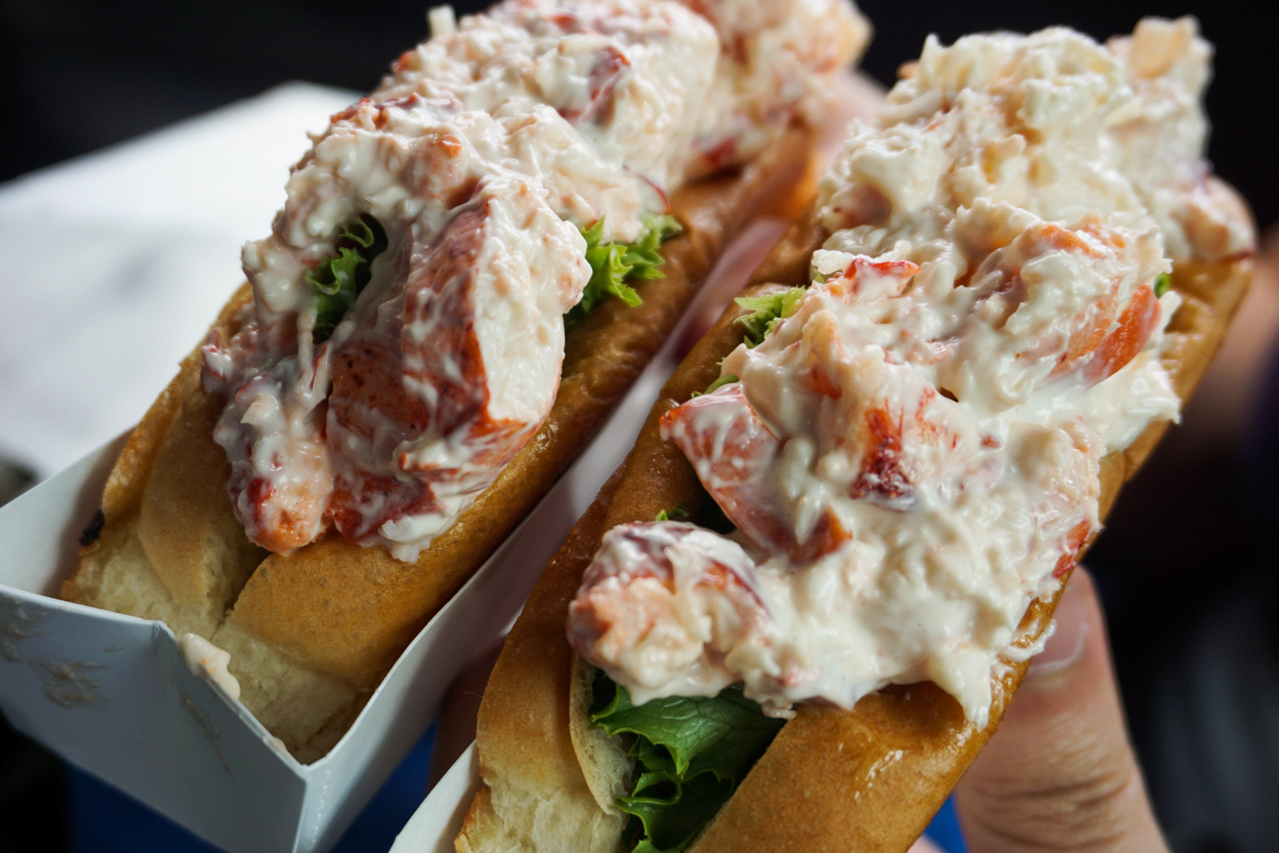 Lobstah roll—a beautiful classic from Fat Boy's Drive-In