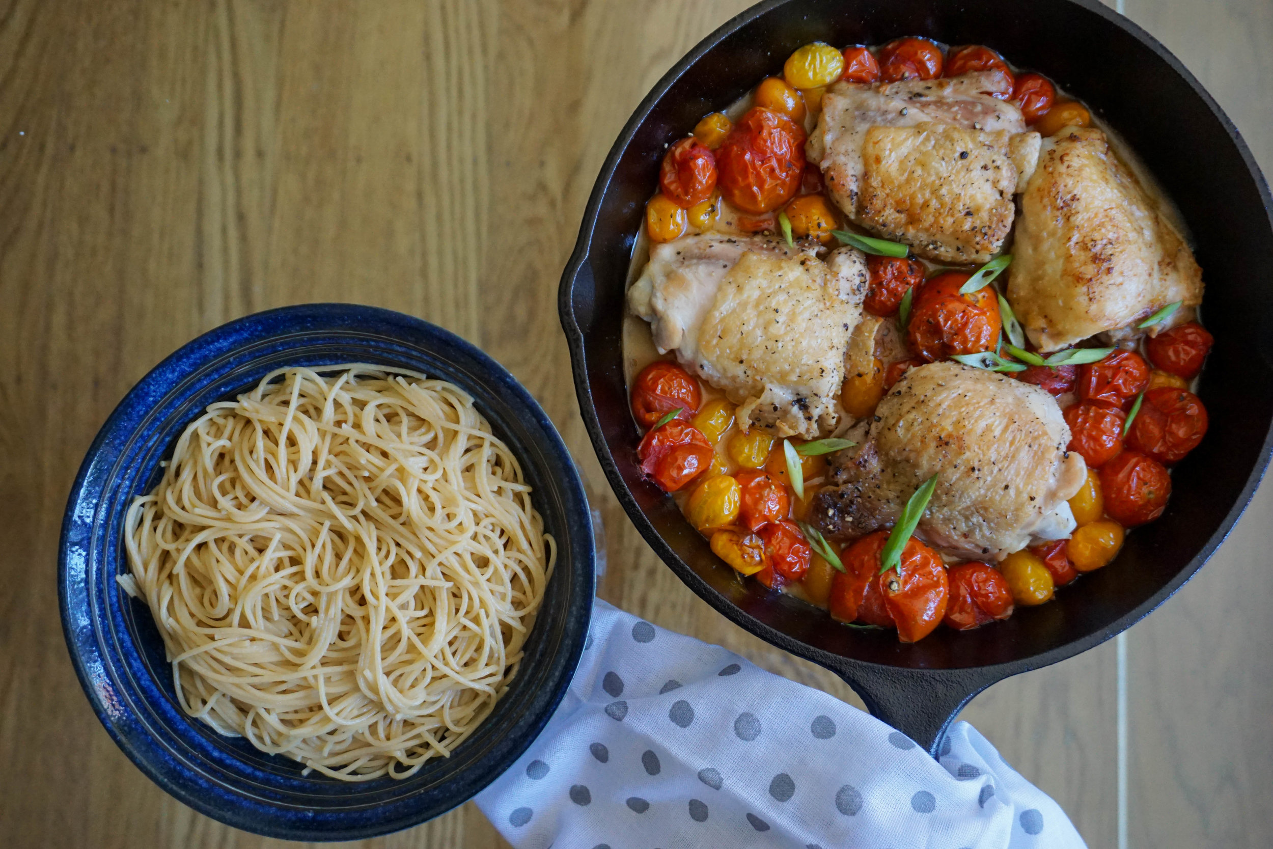 Eat with a nice thick piece of bread or angel hair pasta