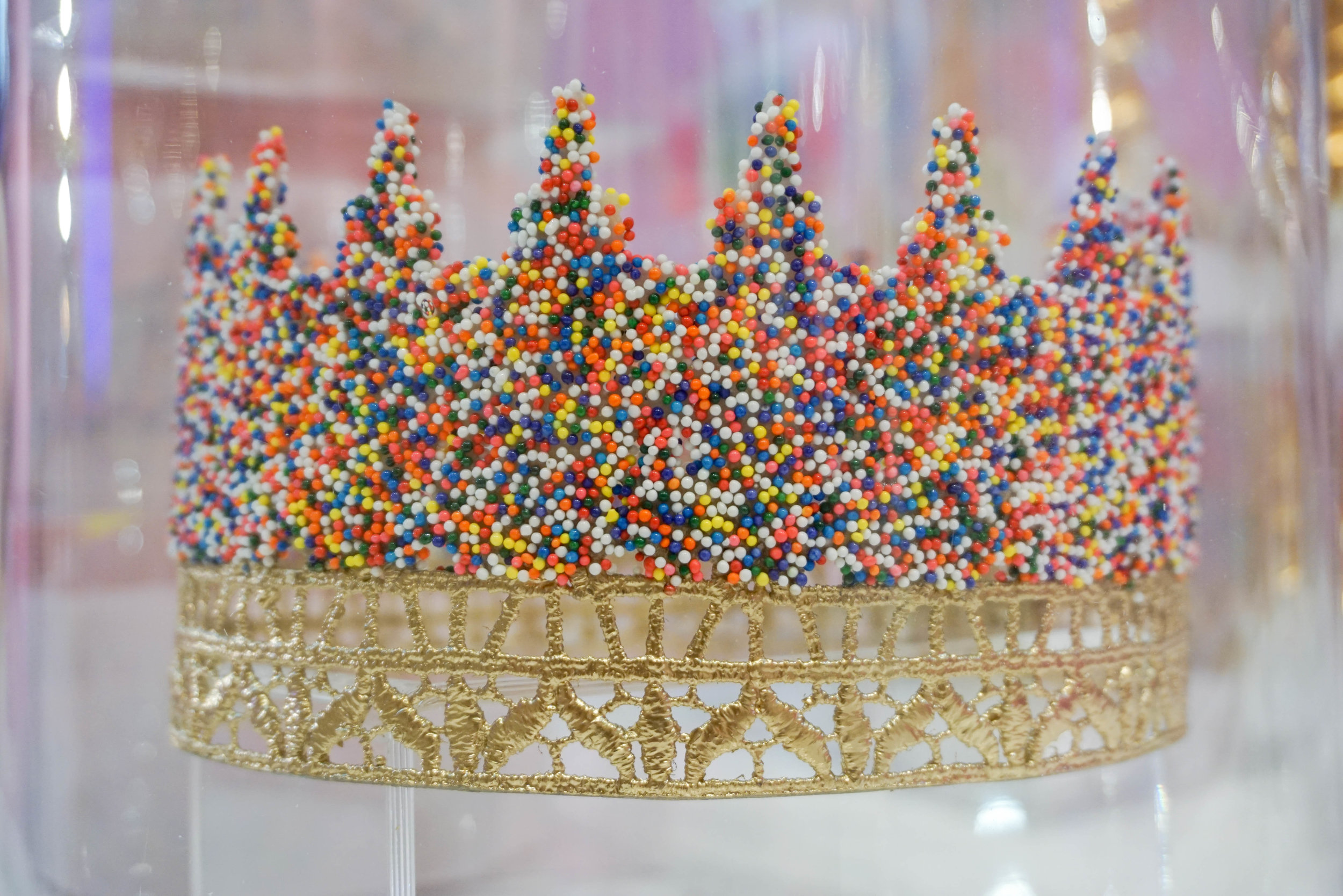 And now to the gift shop! How amazing is this sprinkles crown?