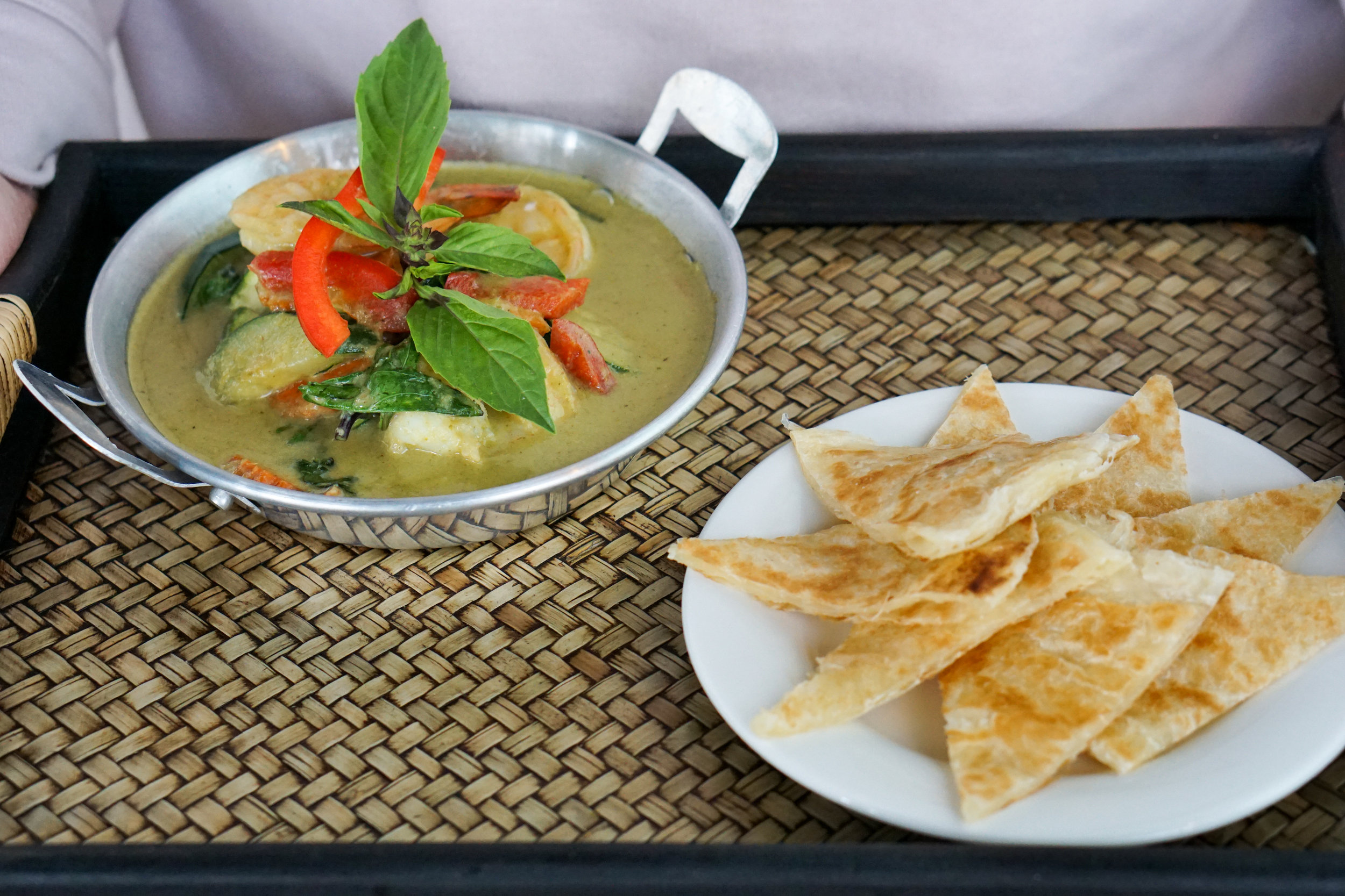 Green Curry with Roti