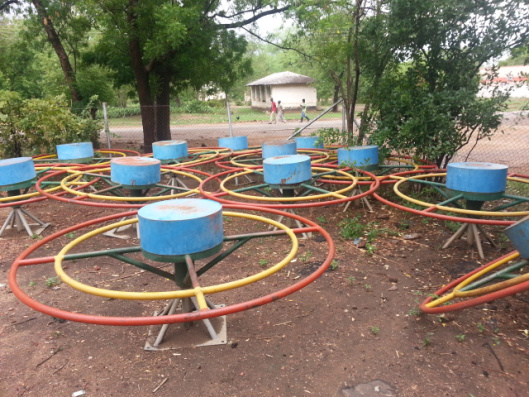 Abandoned playpumps in Malawi (Photo by Mhruti Nhlema 2015)