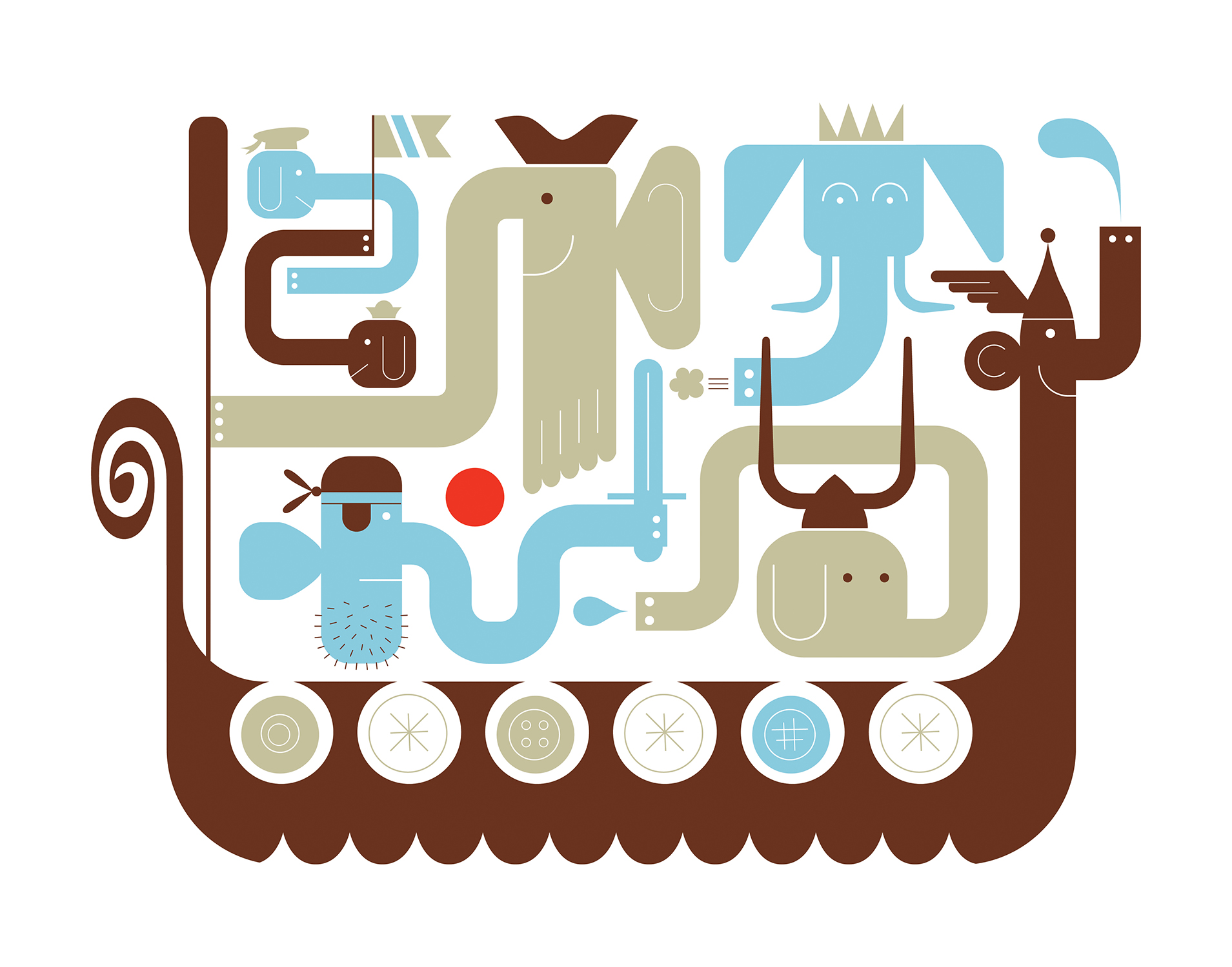 'Tuskers Ahoy' by Michael Bartalos
