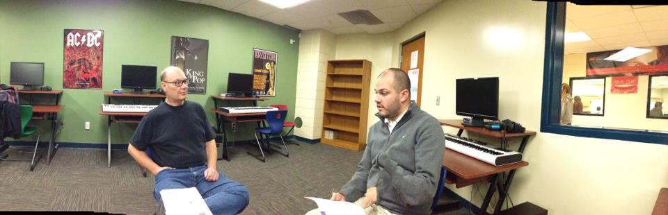 Concept meeting with Riley Johnson, Steve Franks and Jamal Robinson on August 6, 2012 at New Tech Academy.