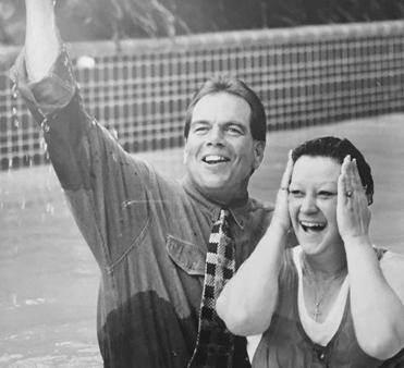 Norma McCorvey baptized by Rev. Flip Benham of Operation Rescue.
