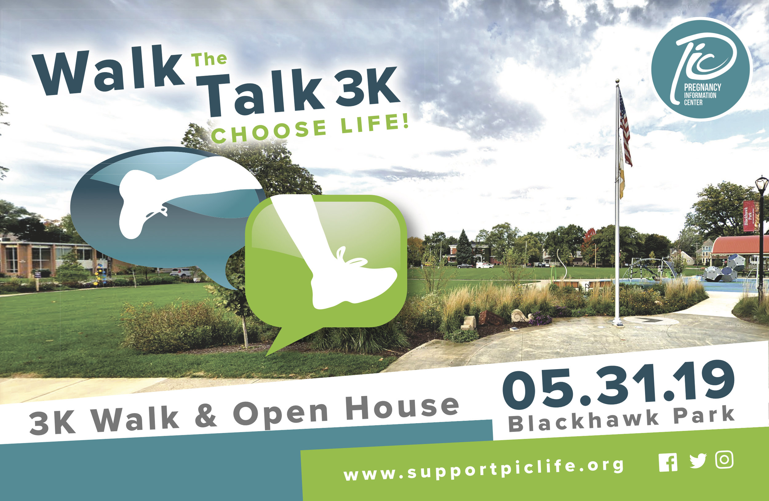 Join us for a fun walk in the park - Friday, May 31, 2019Blackhawk Park (1 block west of PIC)4:30 – 8:00 Open House5:30 pm walk check in6:00 pm walk begins