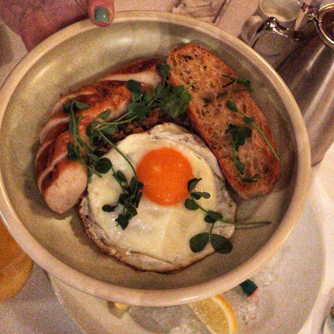 Manitoban cassoulet, veal sausage