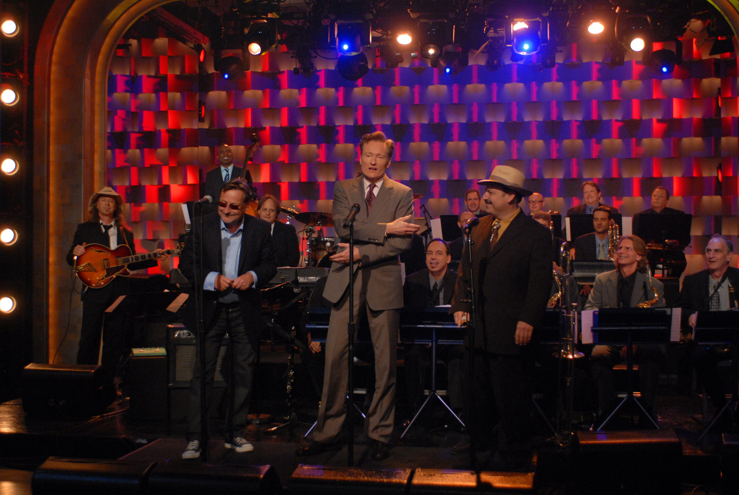 Southside Johnny with LaBamba's Big Band as musical guests on Late Night with Conan O'Brien.        -