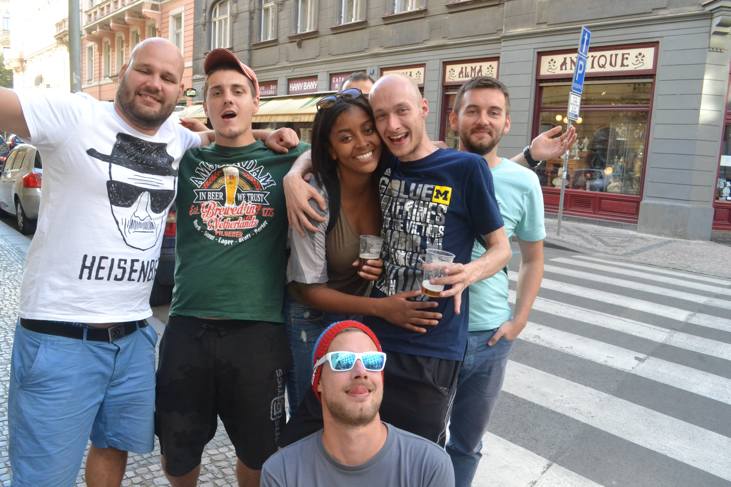 Met these friends on a rowboat in Prague!