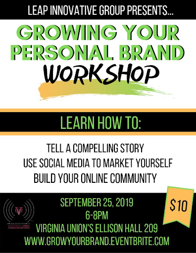 Growing Your Personal Brand Flyer