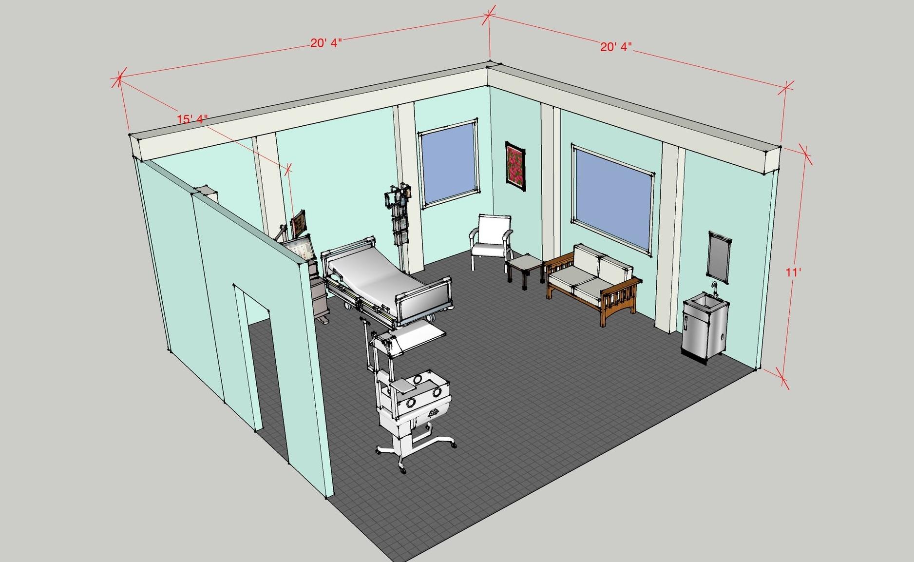 Hospital Set Sketch.