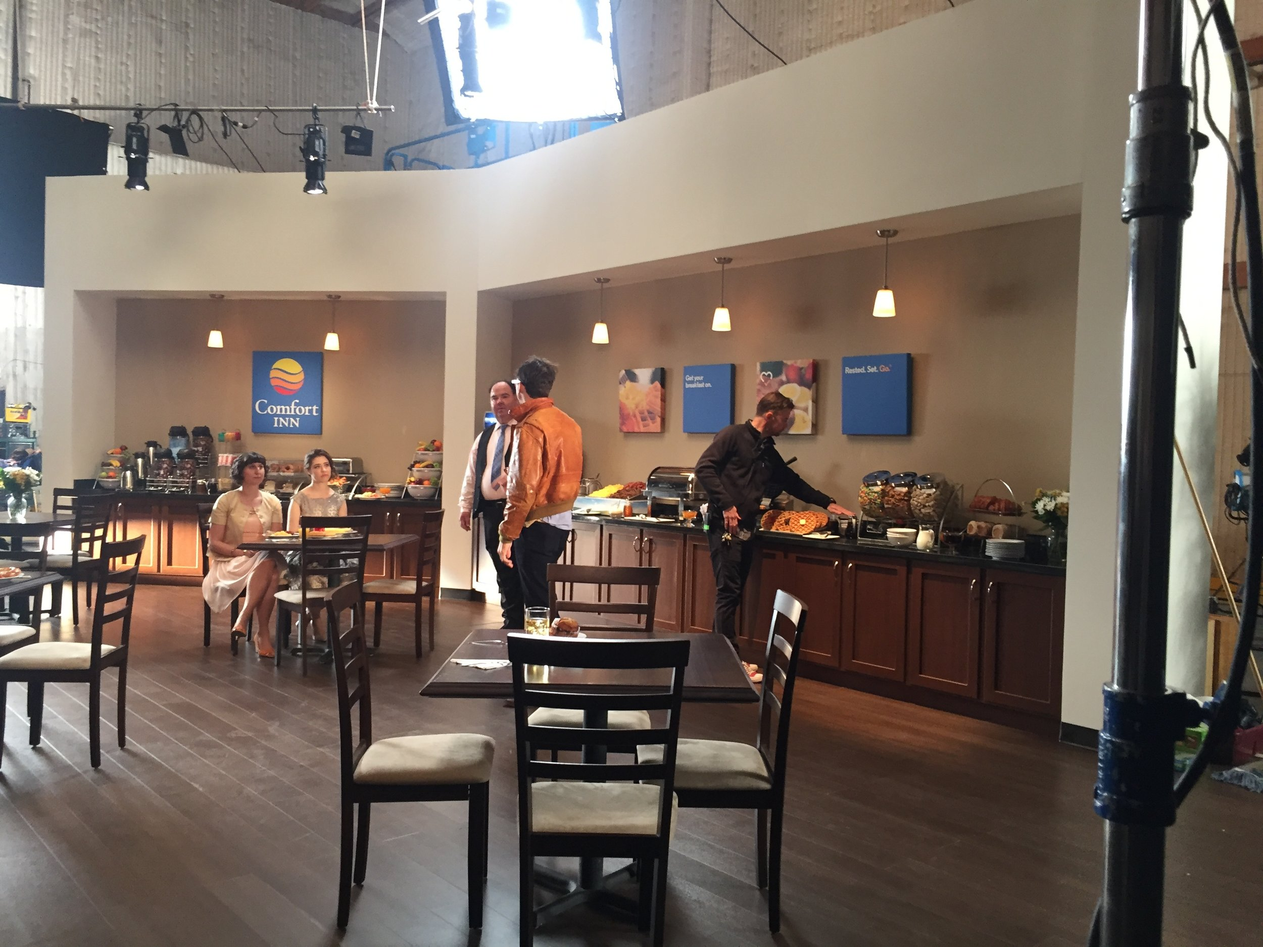 BTS of the breakfast area.