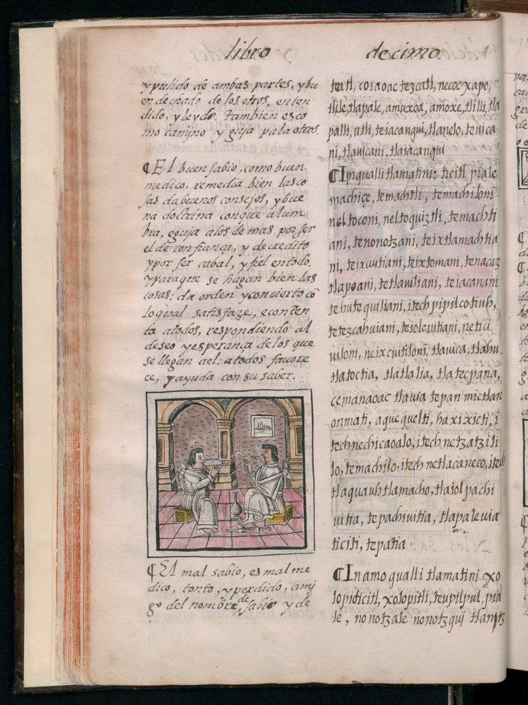 El buen sabio Tlamati in the Florentine Codex