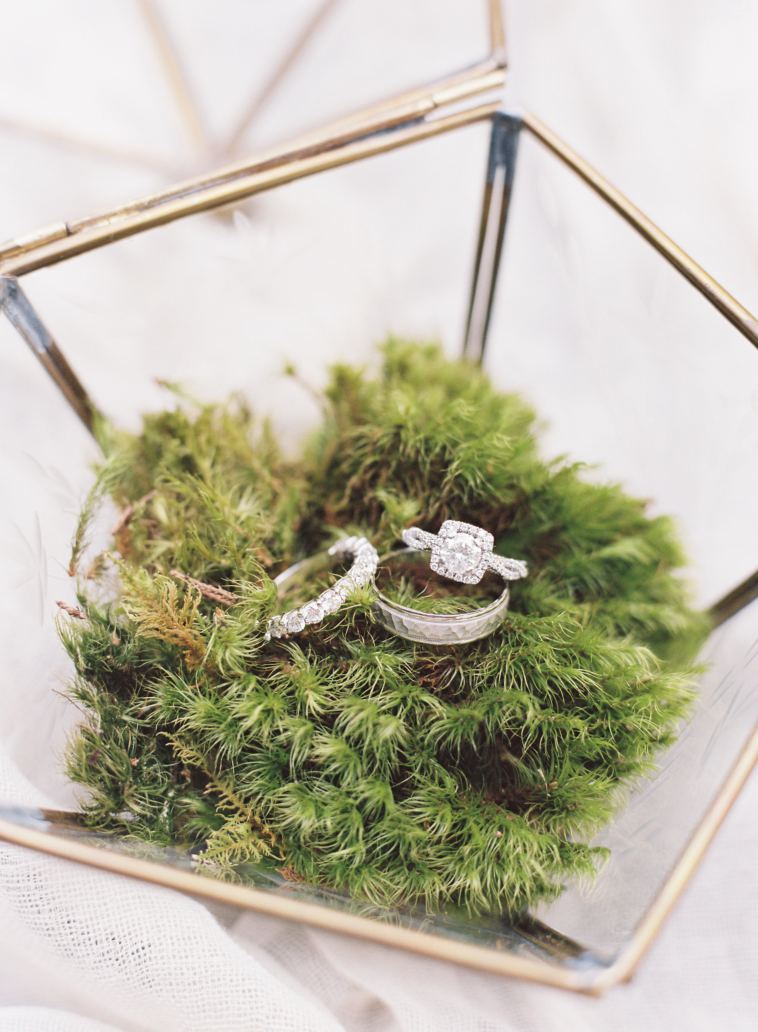 Gold Ring Bearer Terrarium Box
